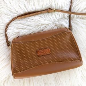 Dooney & Bourke VTG Perforated Camel Crossbody Bag